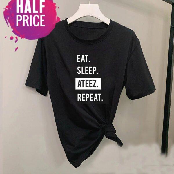 Ateez T-Shirt (Eat, Sleep, Ateez, Repeat)