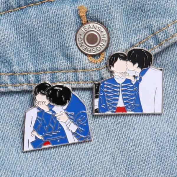bangtan boys army lapel pins