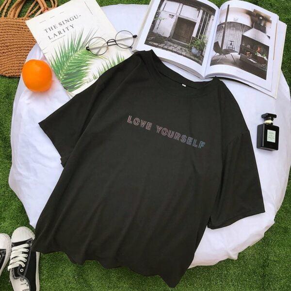 bts love yourself harajuku t-shirts