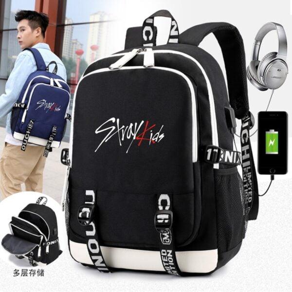 stray kids backpacks multifunction