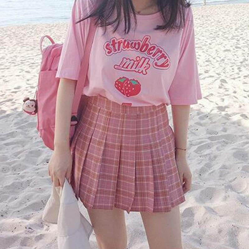 Korean style strawberry top