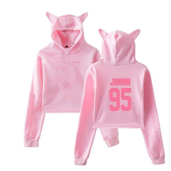BTS cat crop top sweatshirts