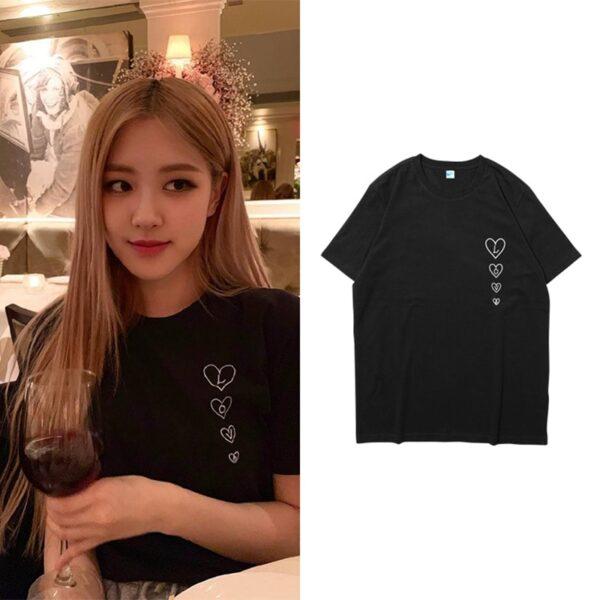 blackpink harajuku t-shirts