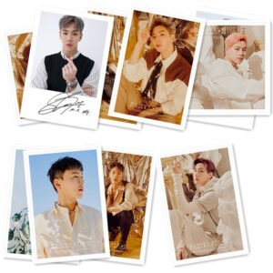 monsta x signed photo cards