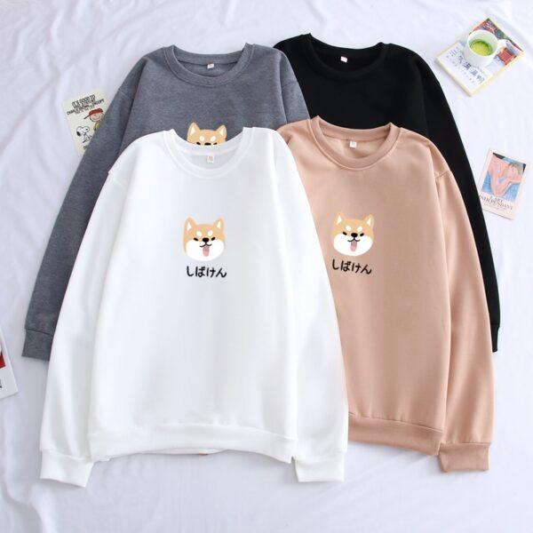 shiba inu dog kawaii sweatshirts