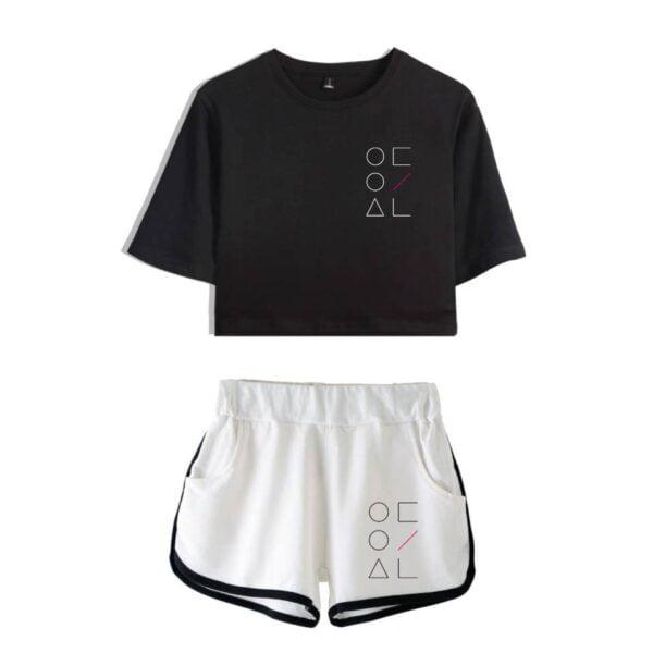 loona crop top shorts