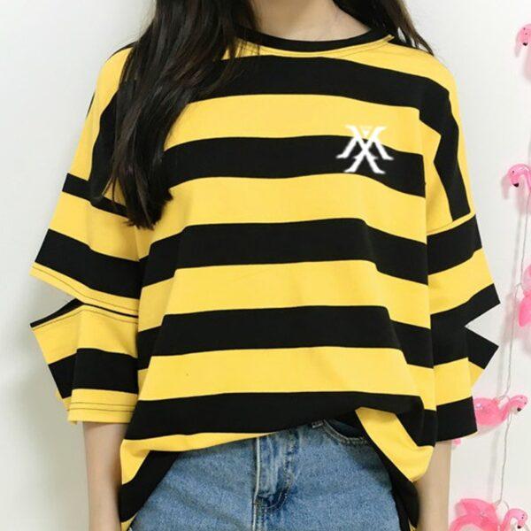 monsta x stripes t-shirt