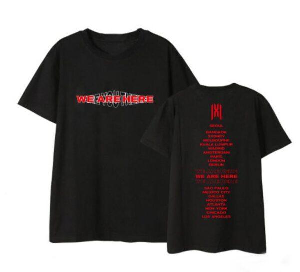 monsta x world tour t shirts