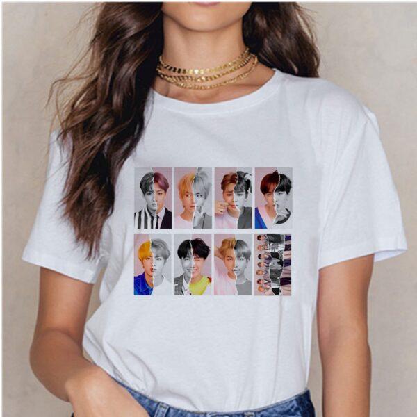 bts harajuku style t-shirts