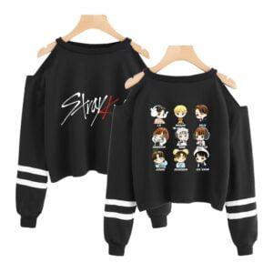 stray kids off shoulder sweatshirts new