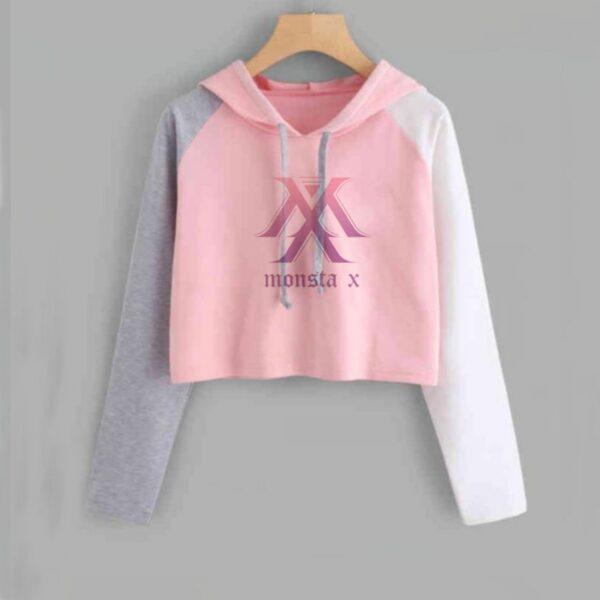 monsta x crop top hoodies