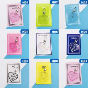 kpop heart shaped keychains
