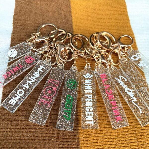 kpop crystal pendant keychains