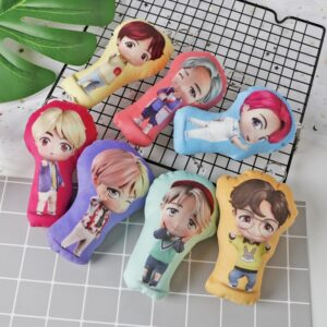bangtan boys pillow keychains