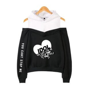 bts idol off shoulder hoodies