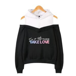 bangtan boys fake love off shoulder sweatshirts