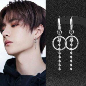 kpop idol pendant earrings