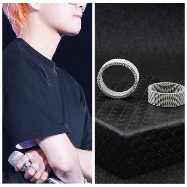 bts v knuckle mesh rings