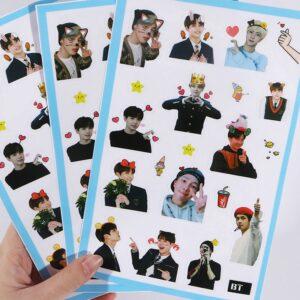 bangtan boys stickers scrapbook
