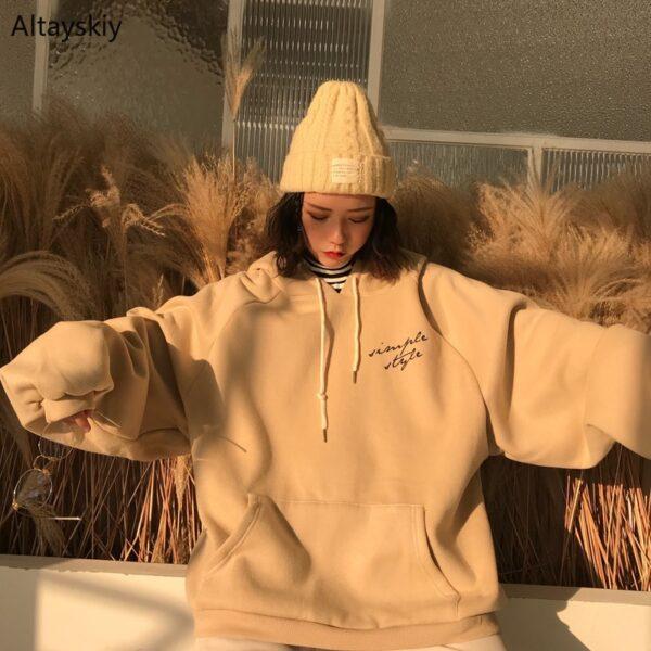kpop hooded leisure pullovers