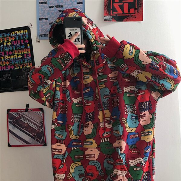 kpop harajuku fashion hoodies