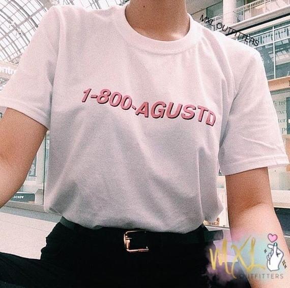 BTS 1-800-Agust D T-shirts