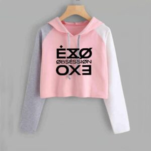 exo crop top hoodies new