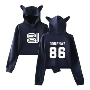 super junior crop top hoodies