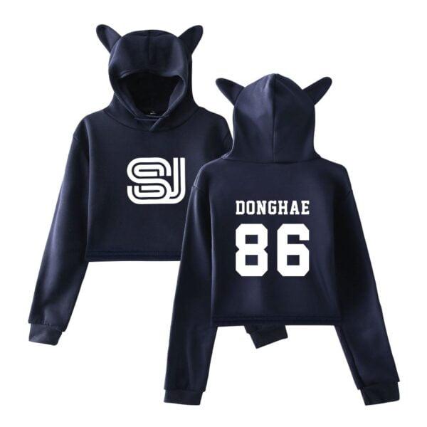 super junior crop top hoodies