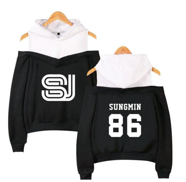 super junior off shoulder hoodies