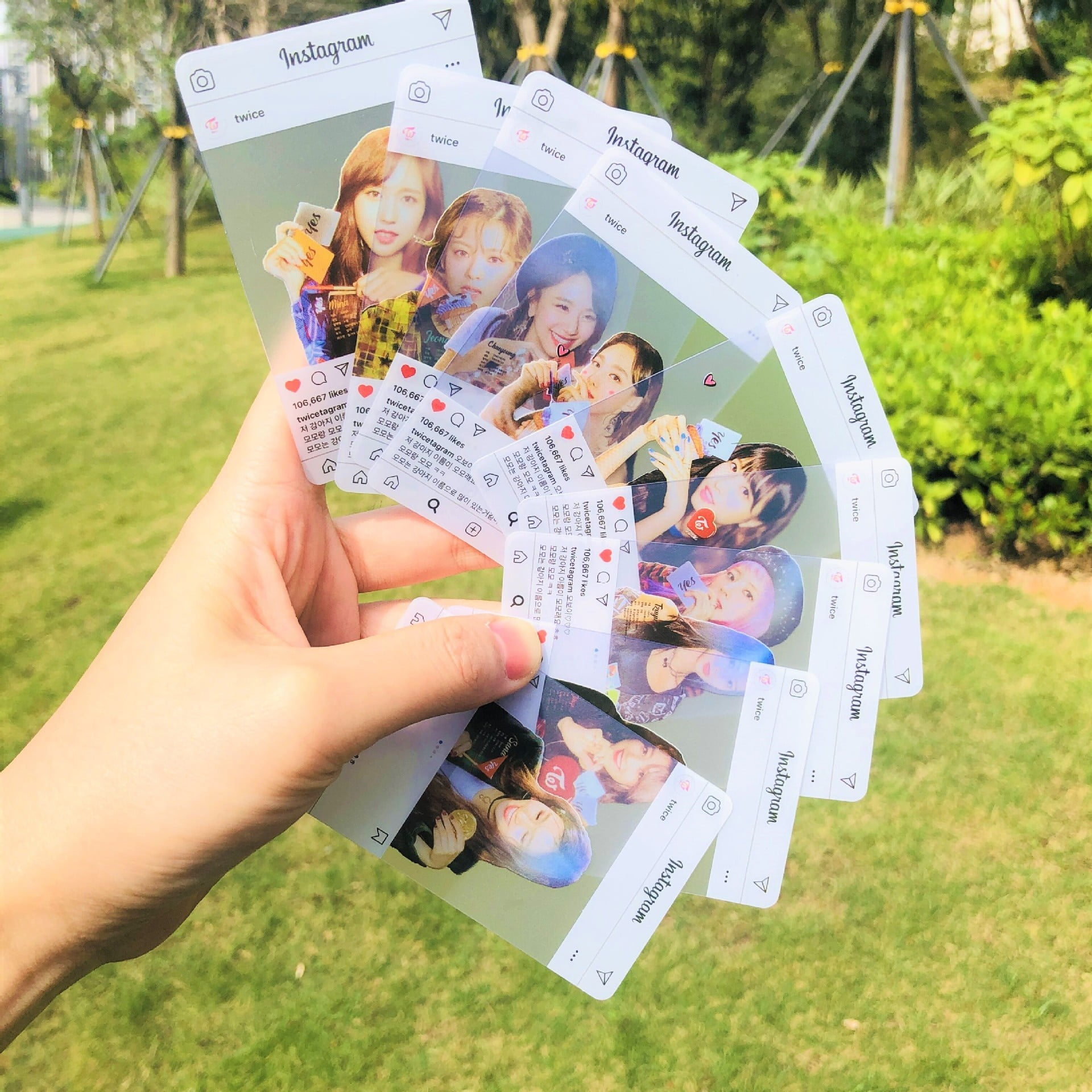 twice instagram transparent photo cards