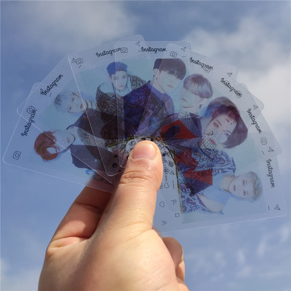 ateez instagram transparent photo cards