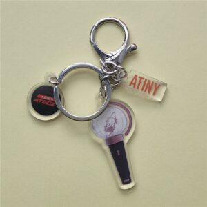 ateez mini lightstick keychain