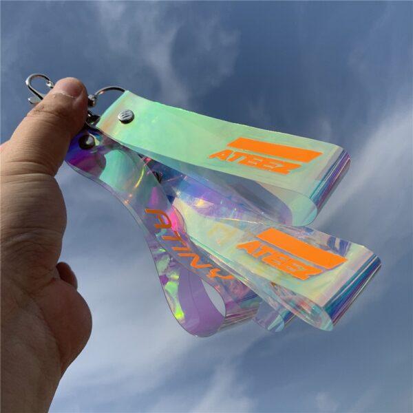 ateez laser keychains