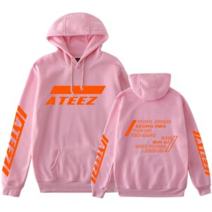 ateez harajuku sweatshirts with pocket