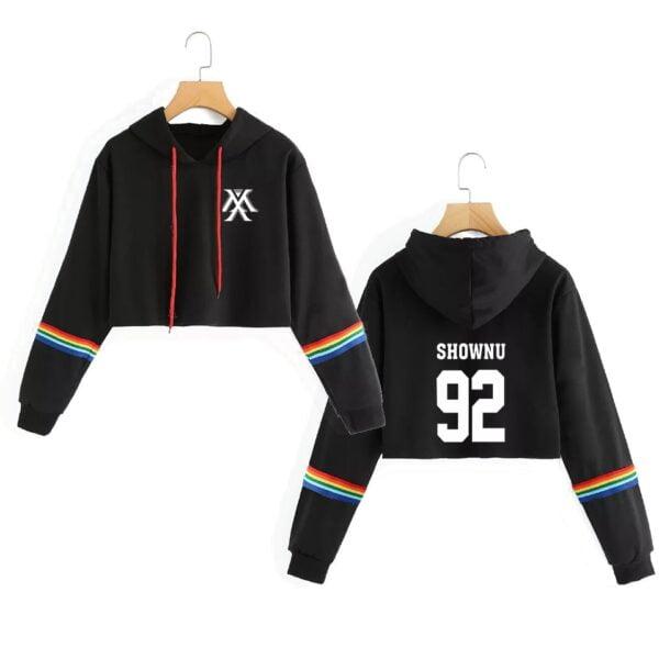 Monsta X kawaii cropped hoodies