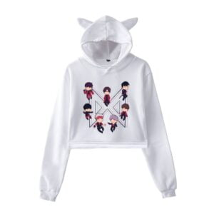 Monsta X harajuku cropped hoodies