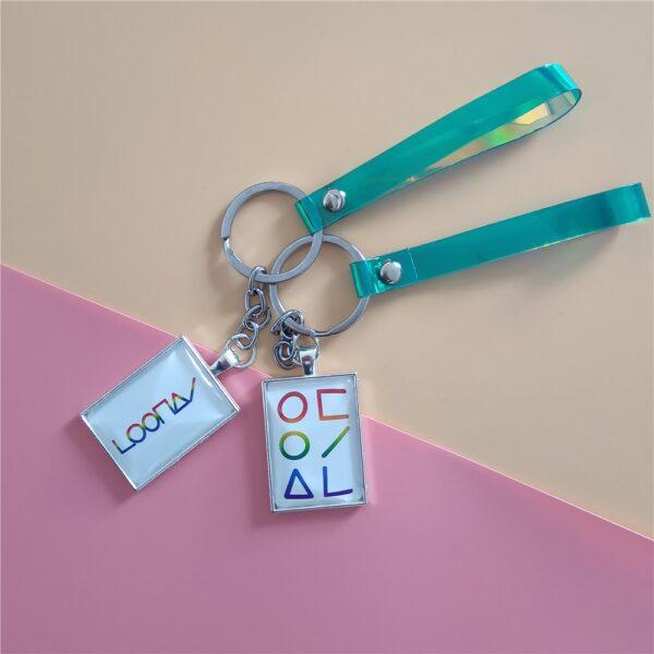 loona laser keychains