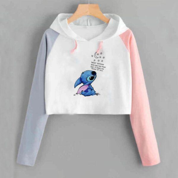 kawaii crop top hoodies