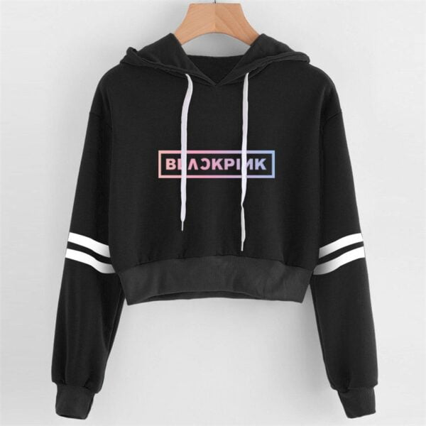 blackpink cropped hoodie sweatshirts