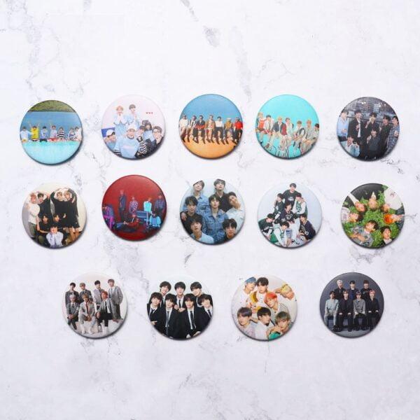 bangtan boys badge pins