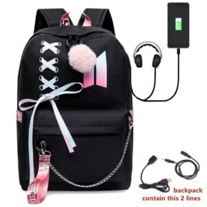 BTS USB Charge Backpacks